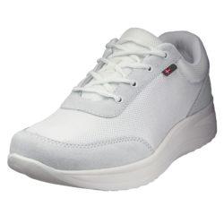 1014-001-1 45 graden Wallin Flex 3D-Mesh/suede white/white white heren comfortsneaker