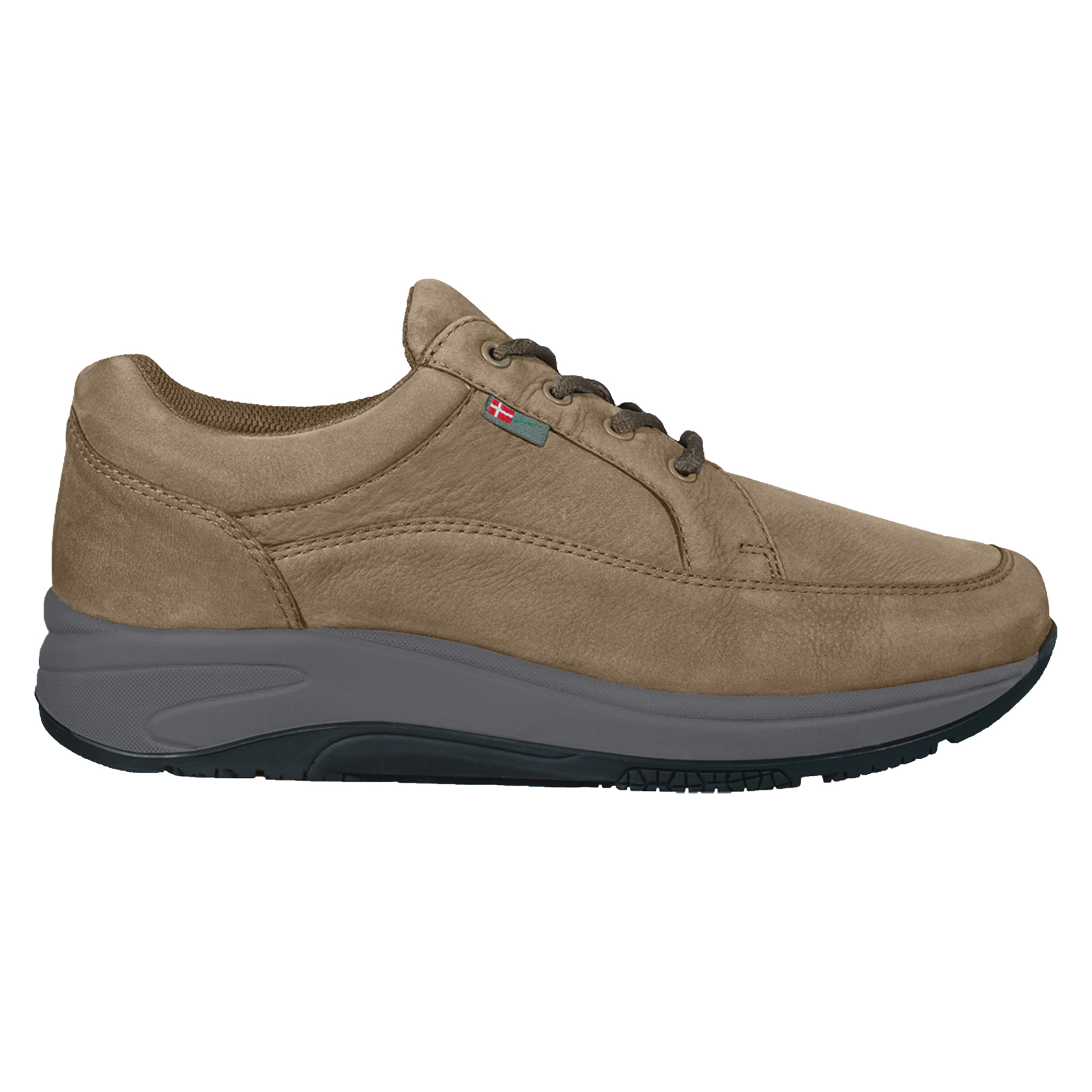 1024-104-20 Wallin Mover nubuck taupe grey/black heren comfortsneaker