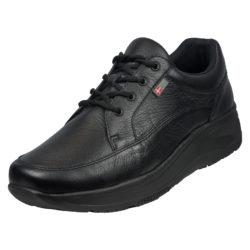 1024-300-00 45 graden Wallin Mover leer black black/black heren comfortsneaker