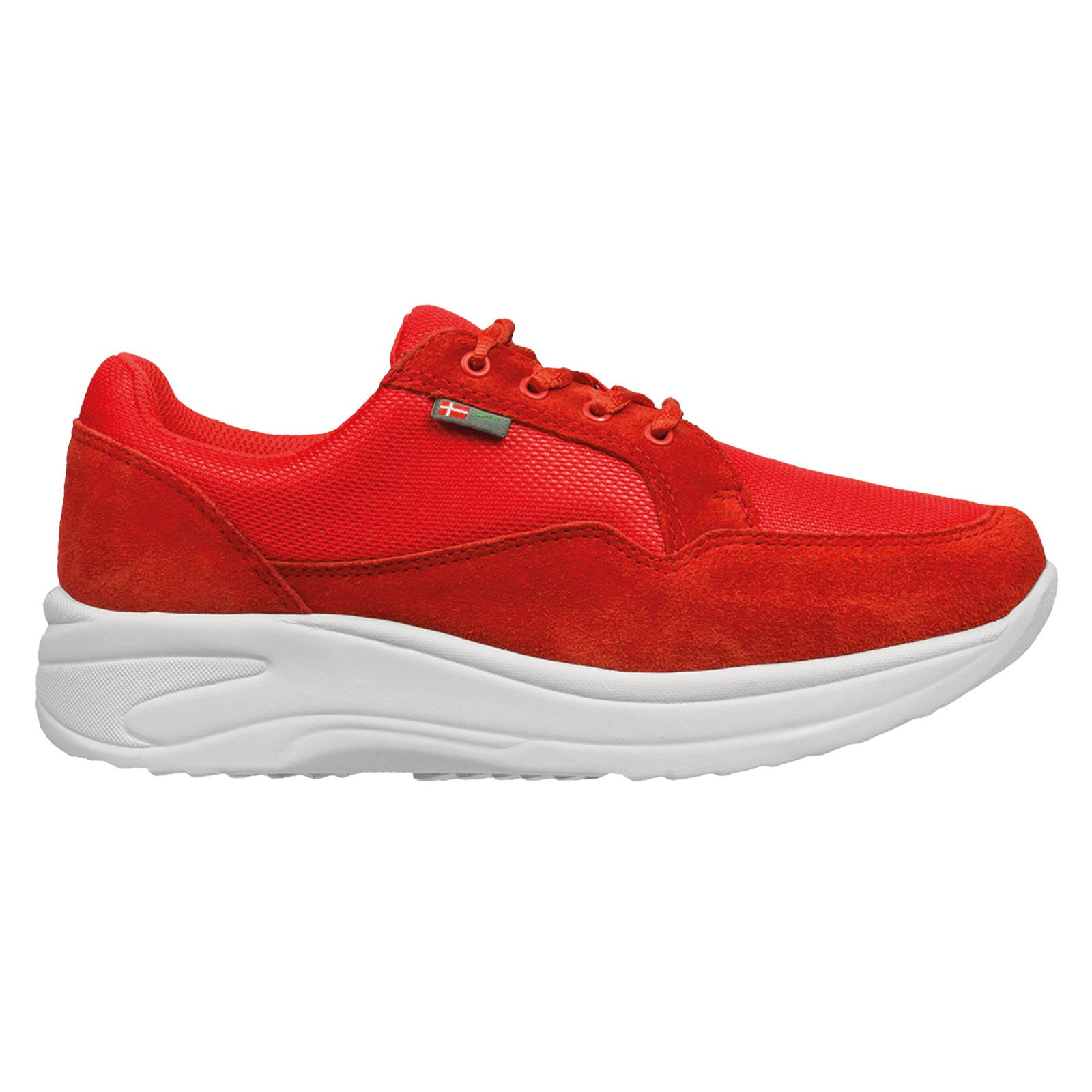 1033-006-1 Wallin Flex 3D-mesh/suede red/red white dames comfortsneaker