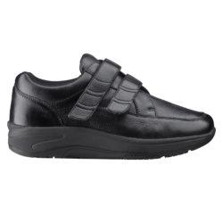 1054-300-00 Wallin Mover leer black black/black heren comfortsneaker met klittenbandsluiting