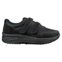 1074-000-0 Wallin Flex 3D-mesh/suede black/black black heren comfortsneaker met klittenbandsluiting