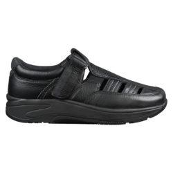 2034-300-00 Wallin Mover Sandal leer black black/black heren comfortsneaker