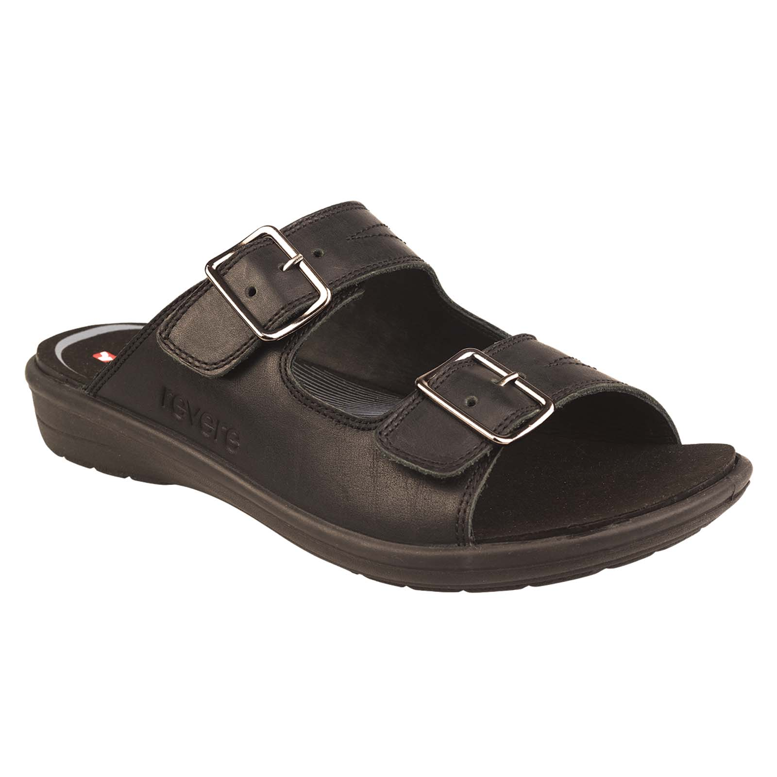 Revere Cairo black herenslipper
