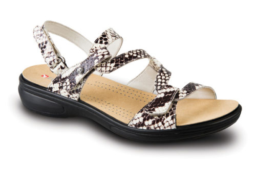 Revere Miami white snake dames sandaal