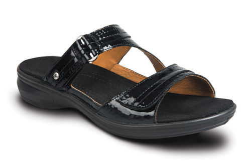Revere Rio black snake dames slipper