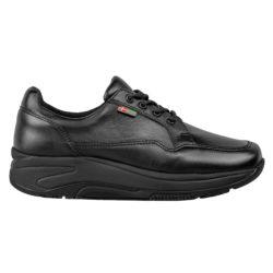 1033-300-0 Wallin Flex leer black black/black dames comfortsneaker
