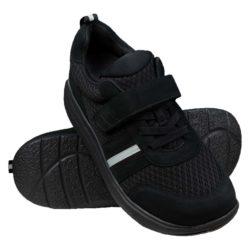 Proflex_Sport_dames_comfortsneaker_in_zwart_mesh_en_zwart_suede_met_een_zwarte_zool_PAAR_1555