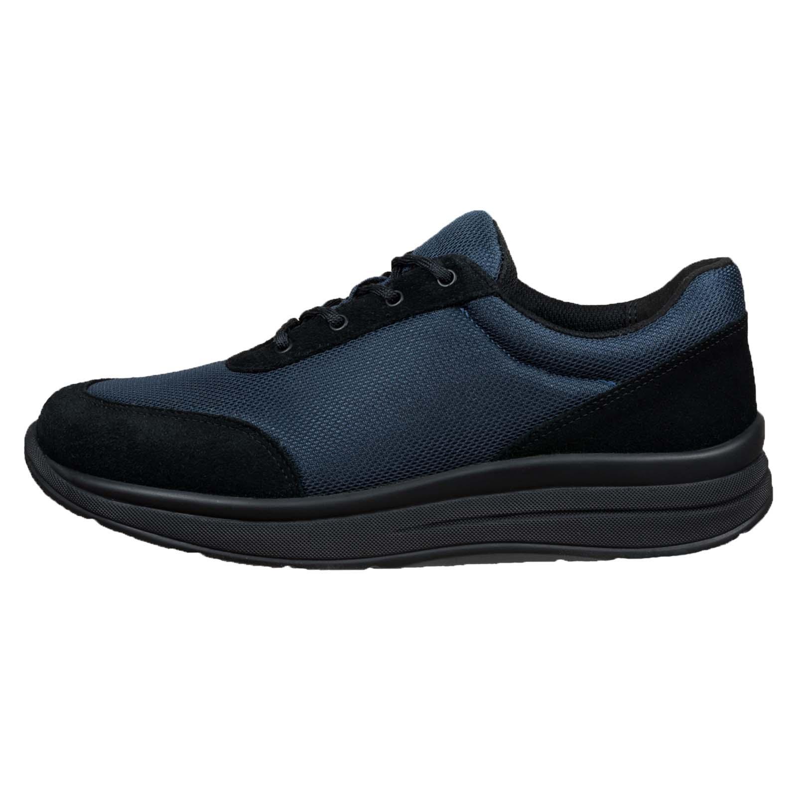 Proflex_dames_comfortsneaker_in_donkerblauw_mesh_en_zwart_suede_met_een_zwarte_zool_1603-008-0
