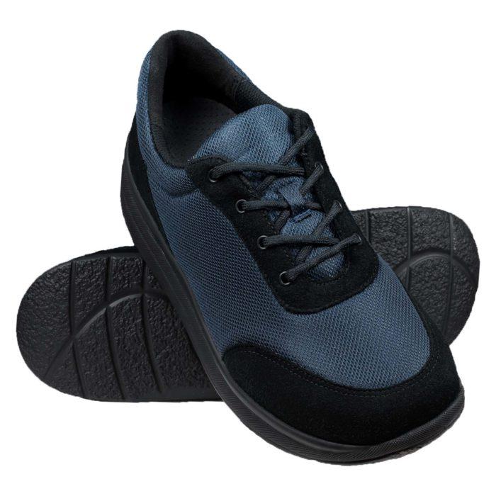 Proflex_dames_comfortsneaker_in_donkerblauw_mesh_en_zwart_suede_met_een_zwarte_zool_PAAR_1603-008-0