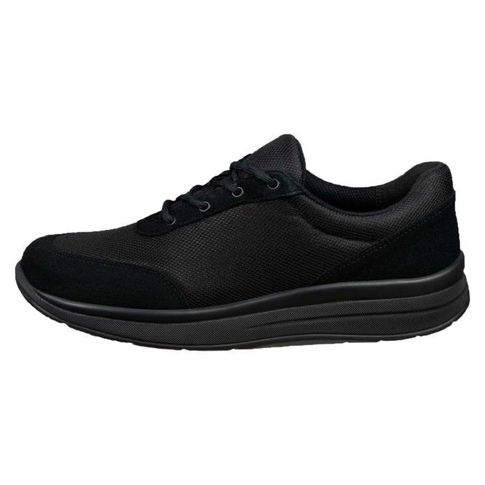 Proflex_dames_comfortsneaker_in_zwart_mesh_en_zwart_suede_met_een_zwarte_zool_1603-000-0