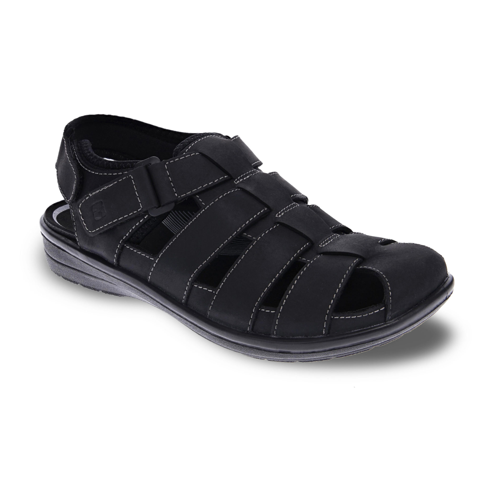 Amsterdam Oiled Black comfort heren sandaal