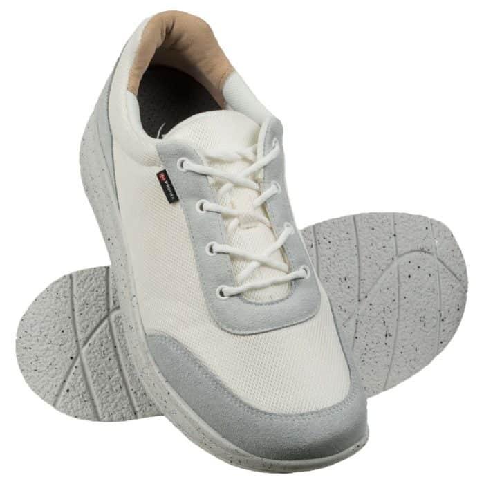 Proflex heren comfortsneaker wit met witte spikkelzool 1014-001-1-paar
