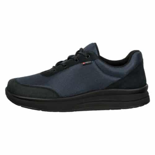 Proflex heren comfortsneaker in zwart mesh en zwart suede met een zwarte zool (1014-000-0)