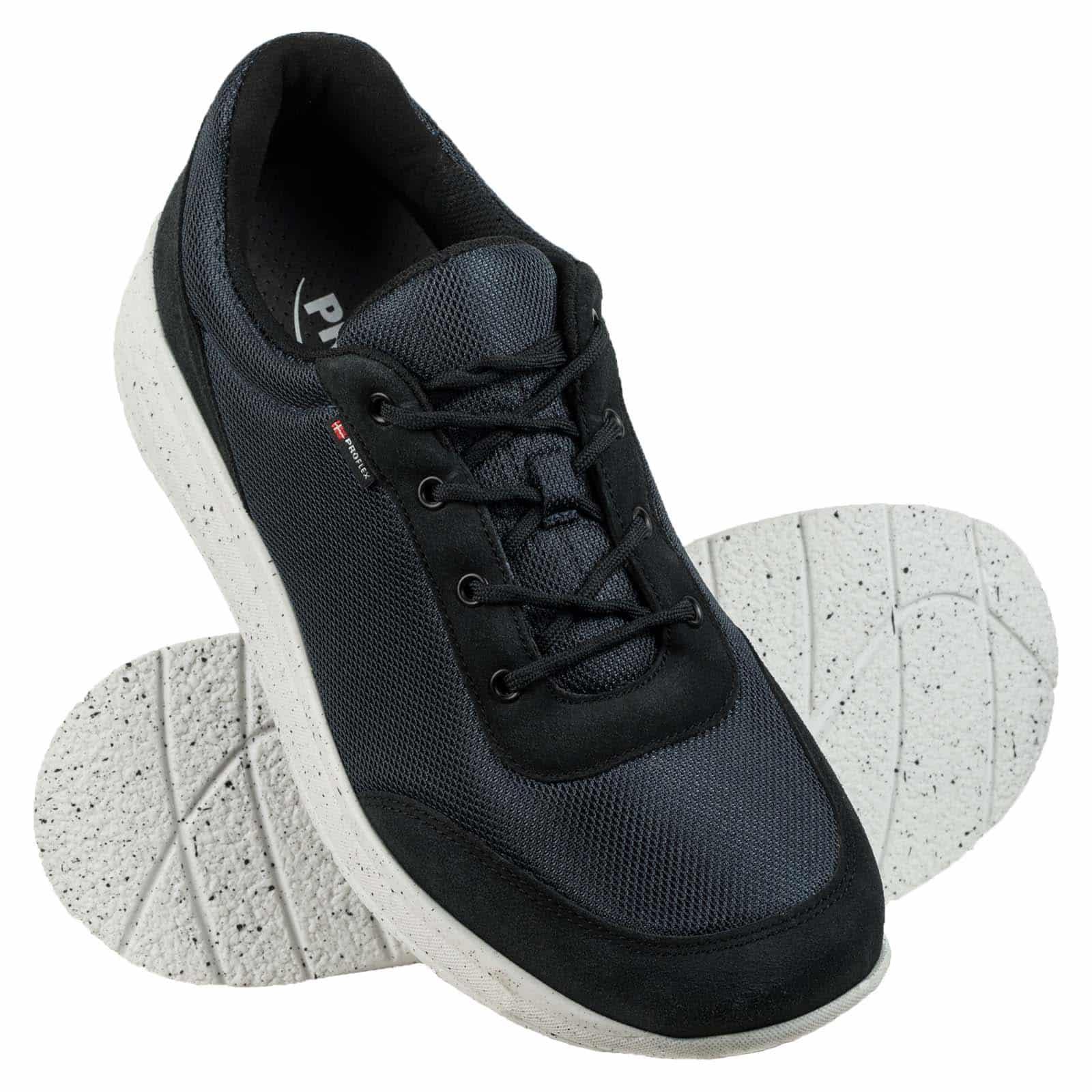 1014-008-1-paarProflex heren comfortsneaker navy mesh met witte spikkel zool 1014-008-1-paar
