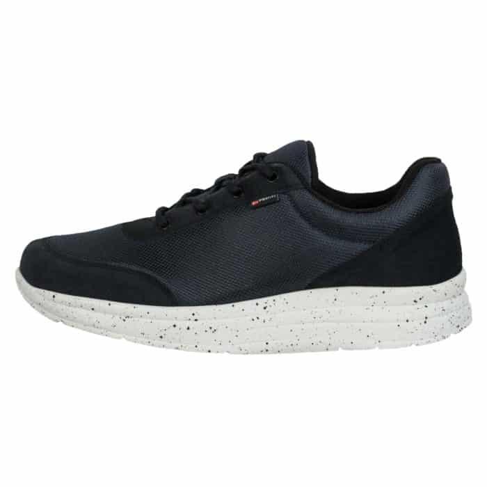 Proflex heren comfortsneaker navy mesh met witte spikkel zool 1014-008-1-zijkant